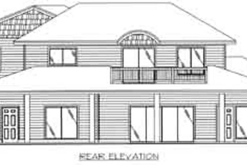 Traditional Exterior - Rear Elevation Plan #117-489 - Houseplans.com