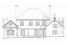 Home Plan - Rear View - 4500 European style home