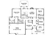 Ranch Style House Plan - 3 Beds 2.5 Baths 2668 Sq/Ft Plan #124-872 Floor Plan - Main Floor Plan