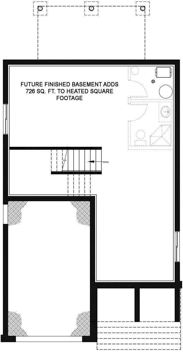Contemporary Floor Plan - Lower Floor Plan Plan #23-2708