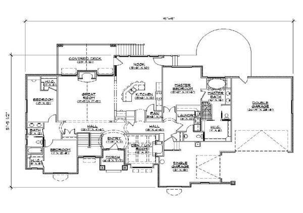 House Plan Design - European Floor Plan - Main Floor Plan #5-366