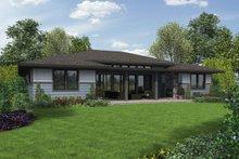 Architectural House Design - Contemporary Exterior - Rear Elevation Plan #48-1016