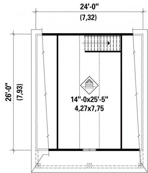 Traditional Floor Plan - Upper Floor Plan Plan #25-4872