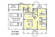 Cottage Style House Plan - 2 Beds 1.5 Baths 1152 Sq/Ft Plan #44-149 Floor Plan - Main Floor Plan