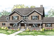 Dream House Plan - Traditional Exterior - Front Elevation Plan #124-837
