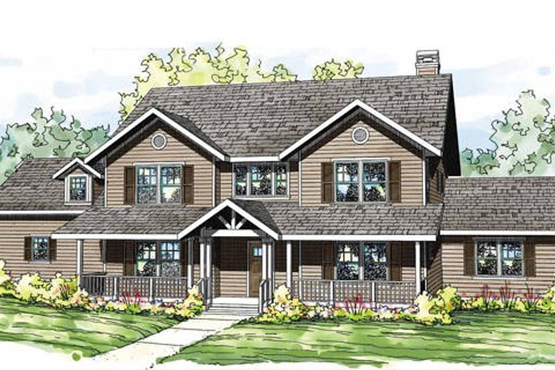 Traditional Exterior - Front Elevation Plan #124-837 - Houseplans.com