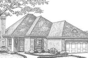European Exterior - Front Elevation Plan #310-303