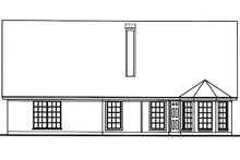 Cottage Exterior - Rear Elevation Plan #42-398