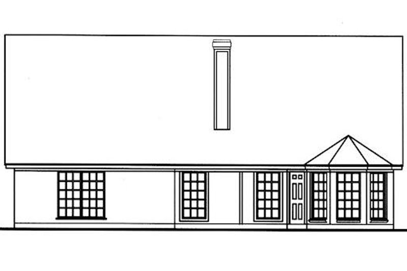 Cottage Exterior - Rear Elevation Plan #42-398 - Houseplans.com