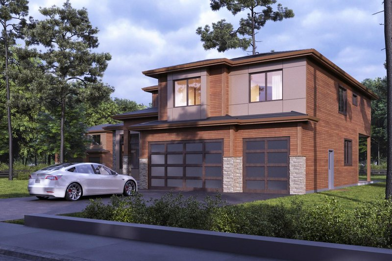 Home Plan - Contemporary Exterior - Front Elevation Plan #1066-57