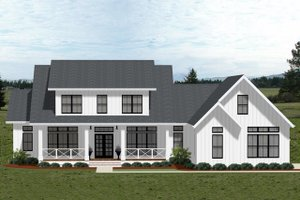 Farmhouse Exterior - Front Elevation Plan #898-50