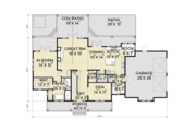 Farmhouse Style House Plan - 4 Beds 2.5 Baths 2878 Sq/Ft Plan #1070-19 Floor Plan - Main Floor Plan