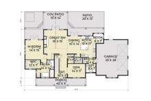 Farmhouse Floor Plan - Main Floor Plan Plan #1070-19