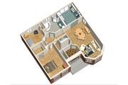 European Style House Plan - 2 Beds 1 Baths 1154 Sq/Ft Plan #25-4644 Floor Plan - Main Floor Plan