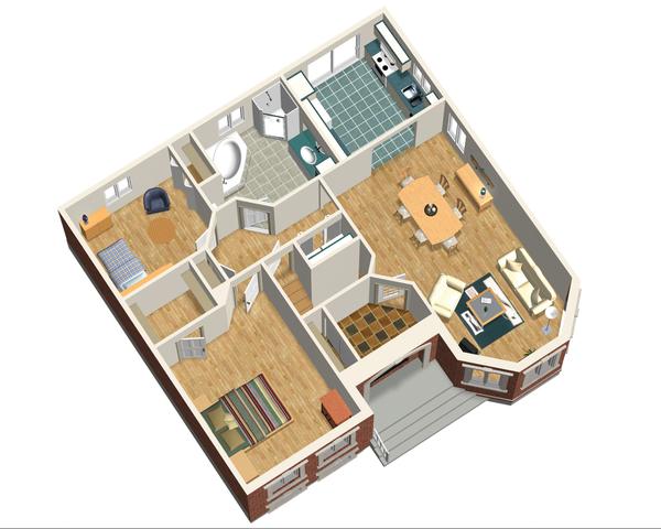 European Floor Plan - Main Floor Plan Plan #25-4644