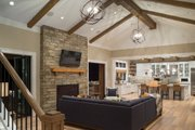 Colonial Style House Plan - 4 Beds 5 Baths 4903 Sq/Ft Plan #48-642 Interior - Family Room