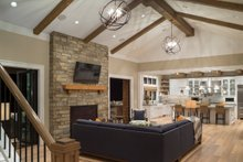 House Plan Design - Great Room - 4900 square foot Colonial home
