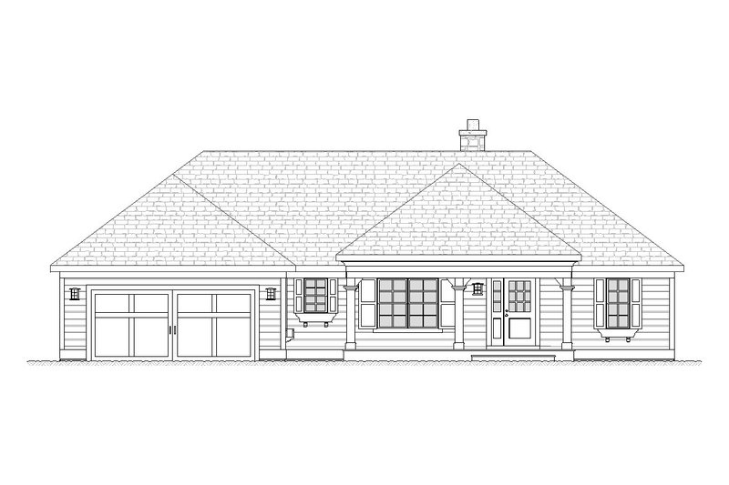 Dream House Plan - Ranch Exterior - Front Elevation Plan #901-63