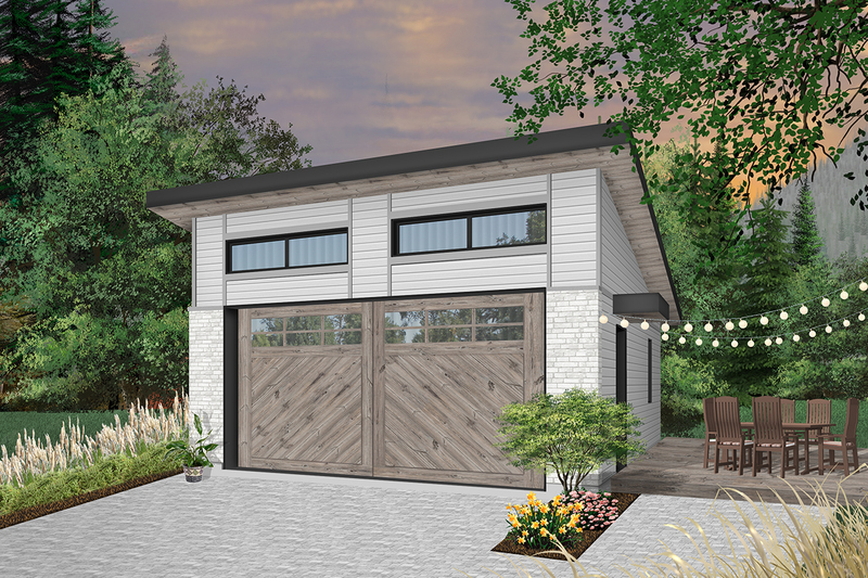 Contemporary Exterior - Front Elevation Plan #23-2635