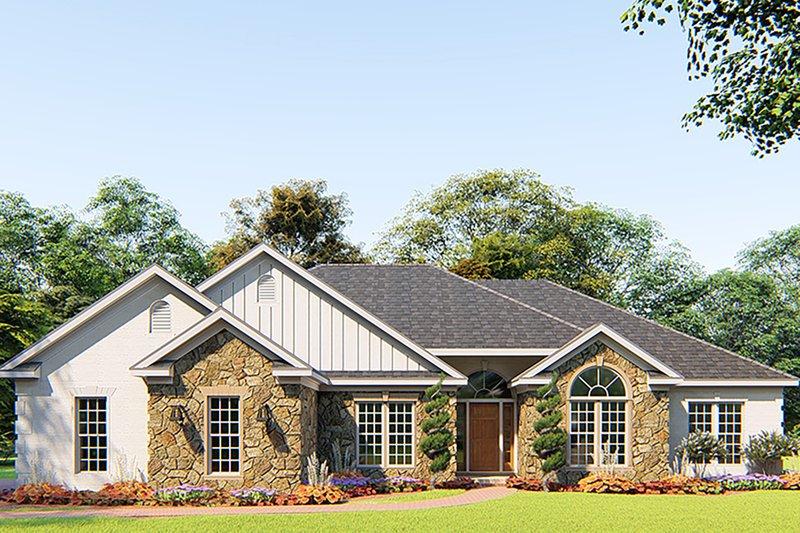 Architectural House Design - Craftsman Exterior - Front Elevation Plan #923-156