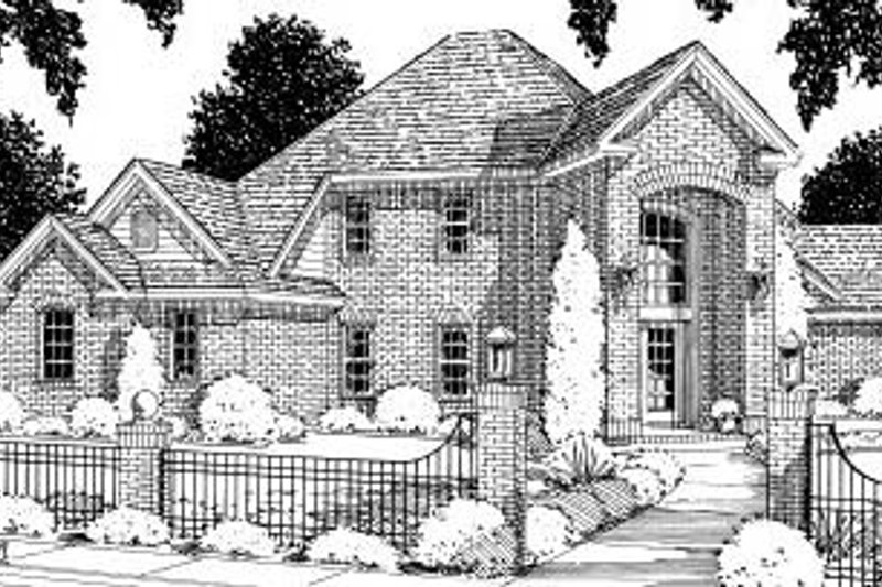 Traditional Exterior - Front Elevation Plan #20-177 - Houseplans.com