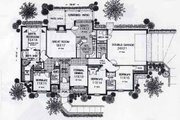 Colonial Style House Plan - 4 Beds 0 Baths 2169 Sq/Ft Plan #310-805 Floor Plan - Main Floor
