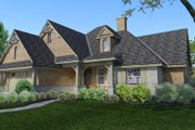 Craftsman Style House Plan - 4 Beds 2 Baths 1764 Sq/Ft Plan #120-176 Exterior - Other Elevation