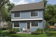 Cottage Style House Plan - 3 Beds 2.5 Baths 1454 Sq/Ft Plan #48-488 Exterior - Rear Elevation