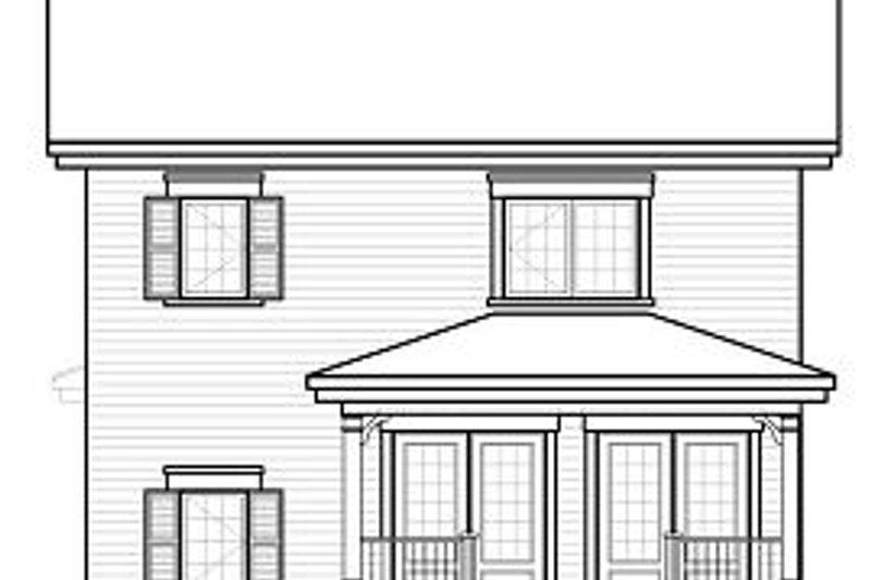 Country Exterior - Rear Elevation Plan #23-743 - Houseplans.com