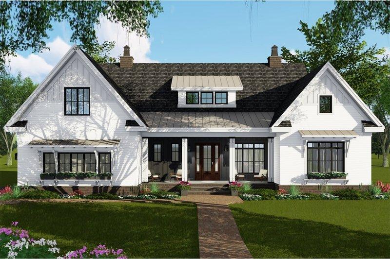 Dream House Plan - Farmhouse Exterior - Front Elevation Plan #51-1143