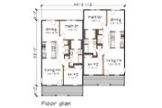Traditional Style House Plan - 2 Beds 1 Baths 1824 Sq/Ft Plan #79-236 Floor Plan - Main Floor Plan