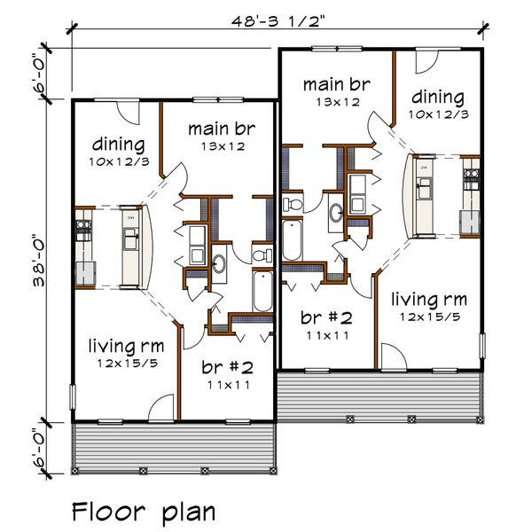 Traditional Floor Plan - Main Floor Plan #79-236