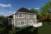Craftsman Style House Plan - 4 Beds 2.5 Baths 2611 Sq/Ft Plan #70-1278 Exterior - Rear Elevation