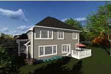Craftsman Exterior - Rear Elevation Plan #70-1278
