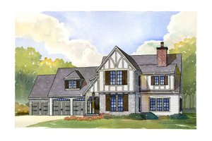 Tudor Exterior - Front Elevation Plan #901-107