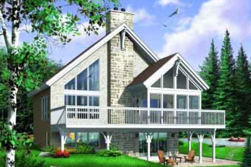 Exterior - Front Elevation Plan #23-597 - Houseplans.com