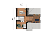 Contemporary Style House Plan - 2 Beds 1 Baths 1290 Sq/Ft Plan #25-4879