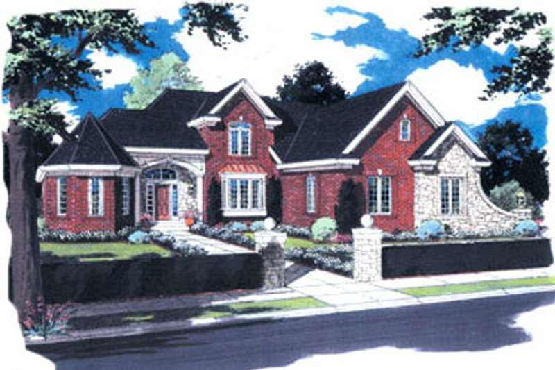 European Exterior - Front Elevation Plan #46-254 - Houseplans.com