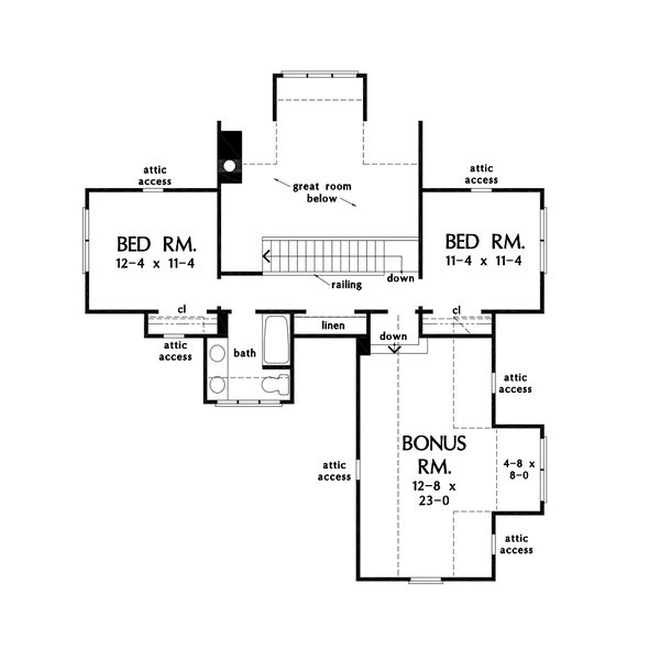 House Plan Design - Farmhouse Floor Plan - Upper Floor Plan #929-1124