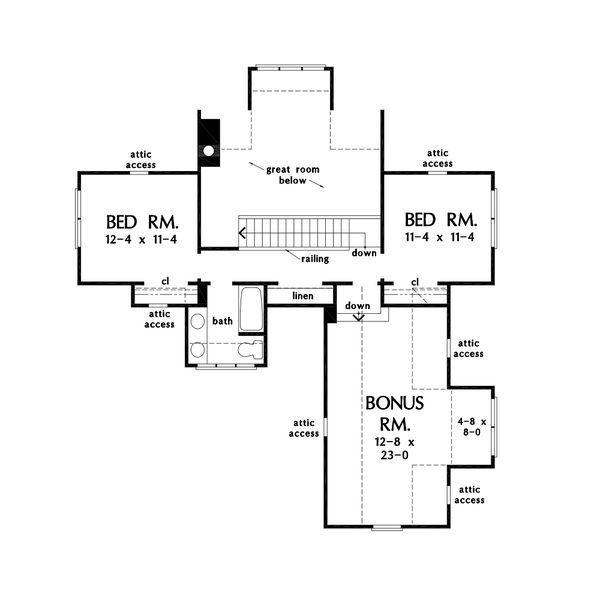 Farmhouse Floor Plan - Upper Floor Plan #929-1124