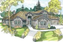 Colonial Exterior - Front Elevation Plan #124-528