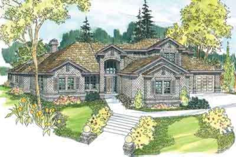 Home Plan - Colonial Exterior - Front Elevation Plan #124-528