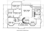 Country Style House Plan - 4 Beds 3.5 Baths 4022 Sq/Ft Plan #117-522 Floor Plan - Main Floor Plan