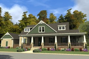 Country Exterior - Front Elevation Plan #63-409