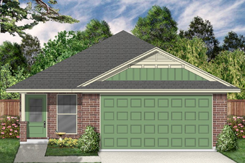 Traditional Style House Plan - 4 Beds 2 Baths 1680 Sq/Ft Plan #84-565 Exterior - Front Elevation