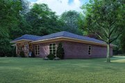 Mediterranean Style House Plan - 4 Beds 2 Baths 1649 Sq/Ft Plan #923-124 Exterior - Other Elevation