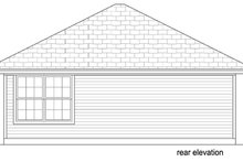 Cottage Exterior - Rear Elevation Plan #84-534