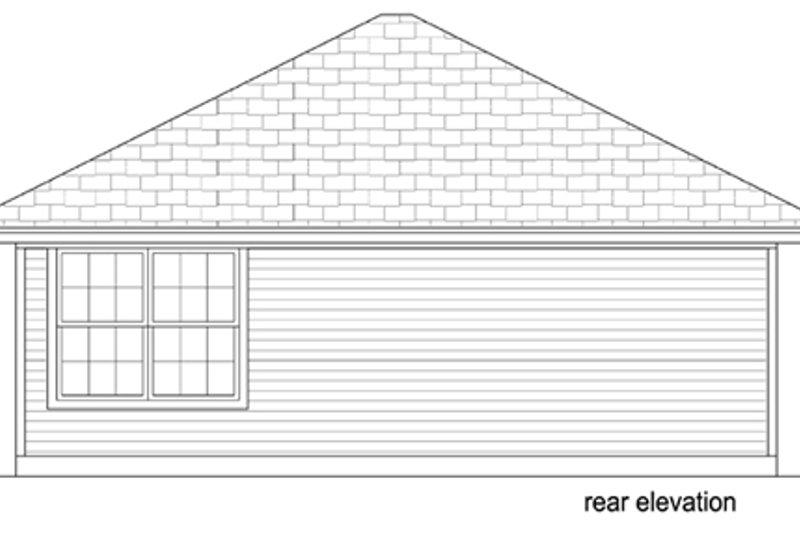 Cottage Exterior - Rear Elevation Plan #84-534 - Houseplans.com