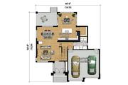 Contemporary Style House Plan - 3 Beds 2 Baths 2132 Sq/Ft Plan #25-4341 Floor Plan - Main Floor Plan