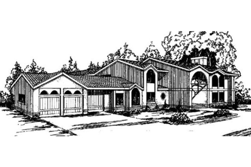 Dream House Plan - Modern Exterior - Front Elevation Plan #60-654